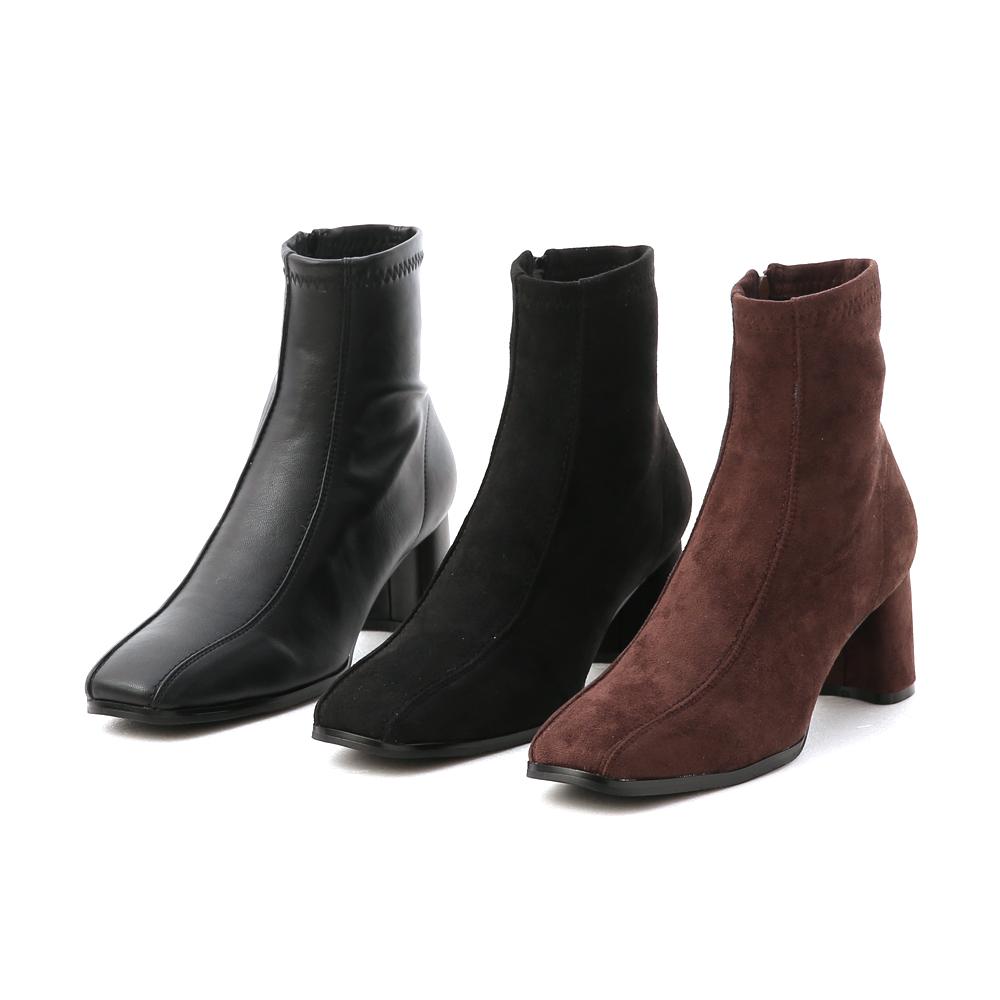 D+AF雙摺線設計高跟襪靴 襪靴