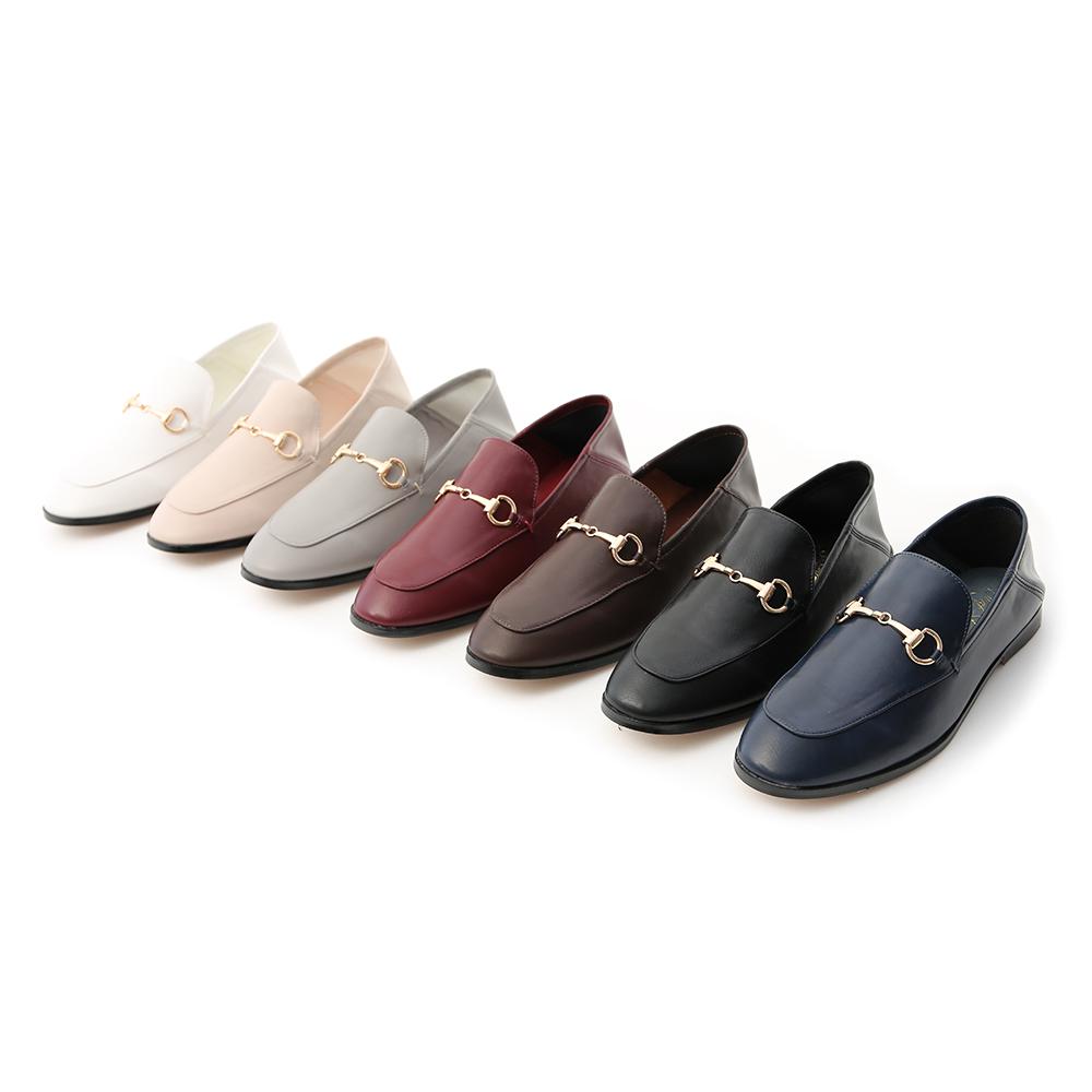 D+AF馬銜釦後踩式二穿紳士便鞋 樂福鞋
