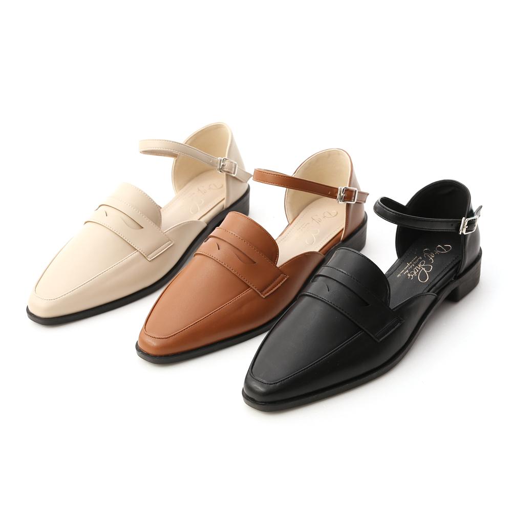 D+AF微尖頭踝繫帶樂福鞋 樂福鞋