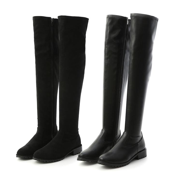 D+AF 黑色過膝長靴