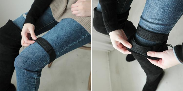 D+AF 防長靴掉筒小妙招 魔術貼 膝上靴