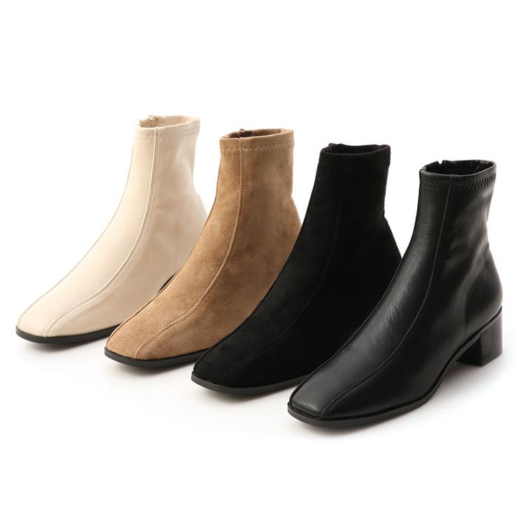 過年春節走春穿搭鞋款推薦 D+AF 雙摺車線設計 低跟襪靴 獨特宣言
