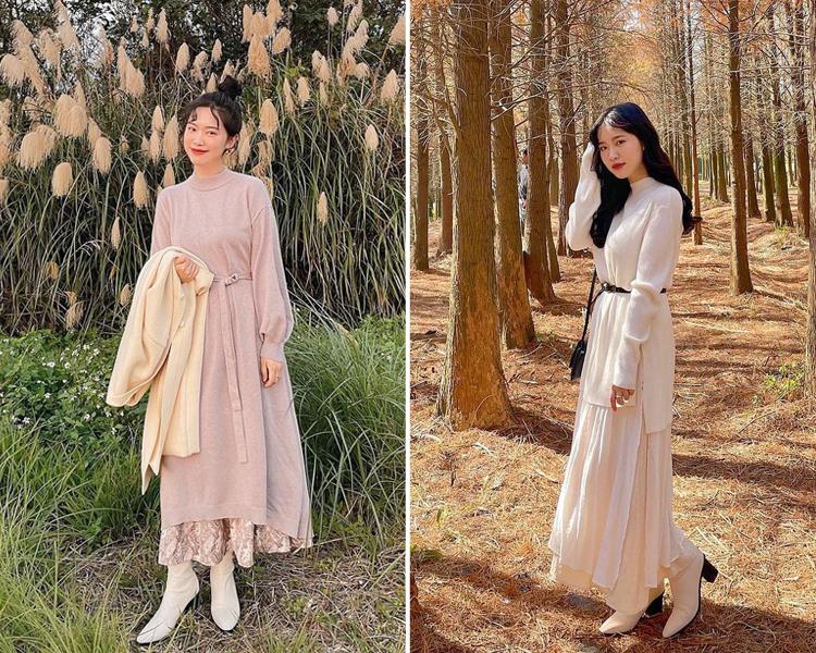 D+AF 春節仙女穿搭 時尚韓風 黑木根襪靴 時尚尖端指標