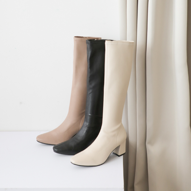 D+AF 2021新春穿搭必備長靴 時尚黑 奶茶杏 香草米 過年春節走春穿搭鞋款推薦