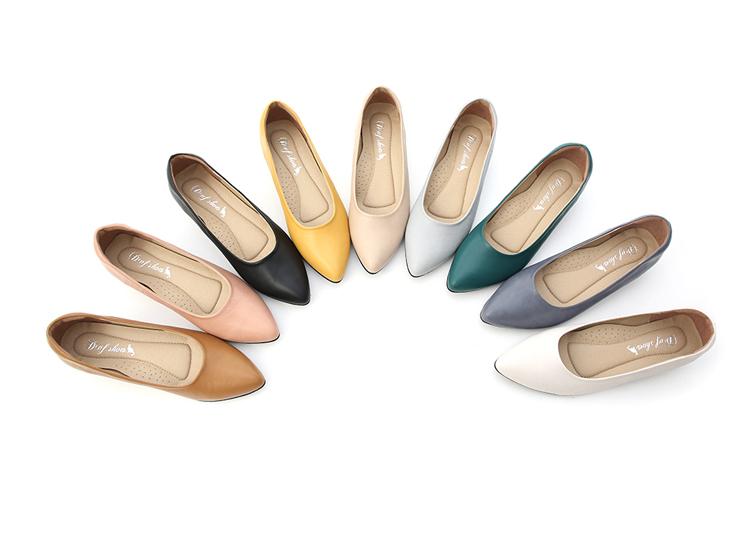 舒適好穿鞋推薦 MIT素面微尖頭低跟鞋 台灣製造手工上班鞋 OL鞋