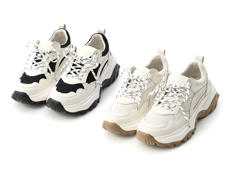 舒適好穿鞋推薦 真皮撞色增高老爹鞋 好穿的老爹鞋 舒適運動休閒鞋