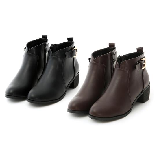 肉肉腿短靴推薦 腿粗V口短靴推薦 小V口低跟短靴