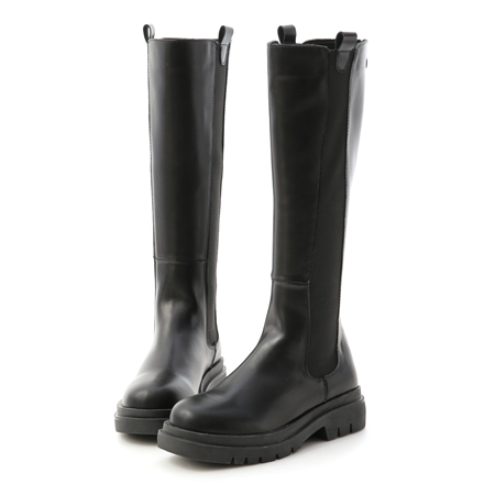 加厚鞋底切爾西長靴 黑色長靴推薦 顯瘦長靴 切爾西靴
