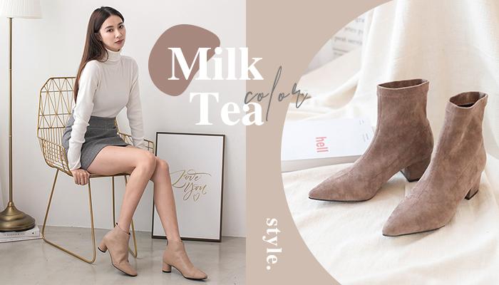 超夯的奶茶色穿搭!今年一定要入手的奶茶色短靴!
