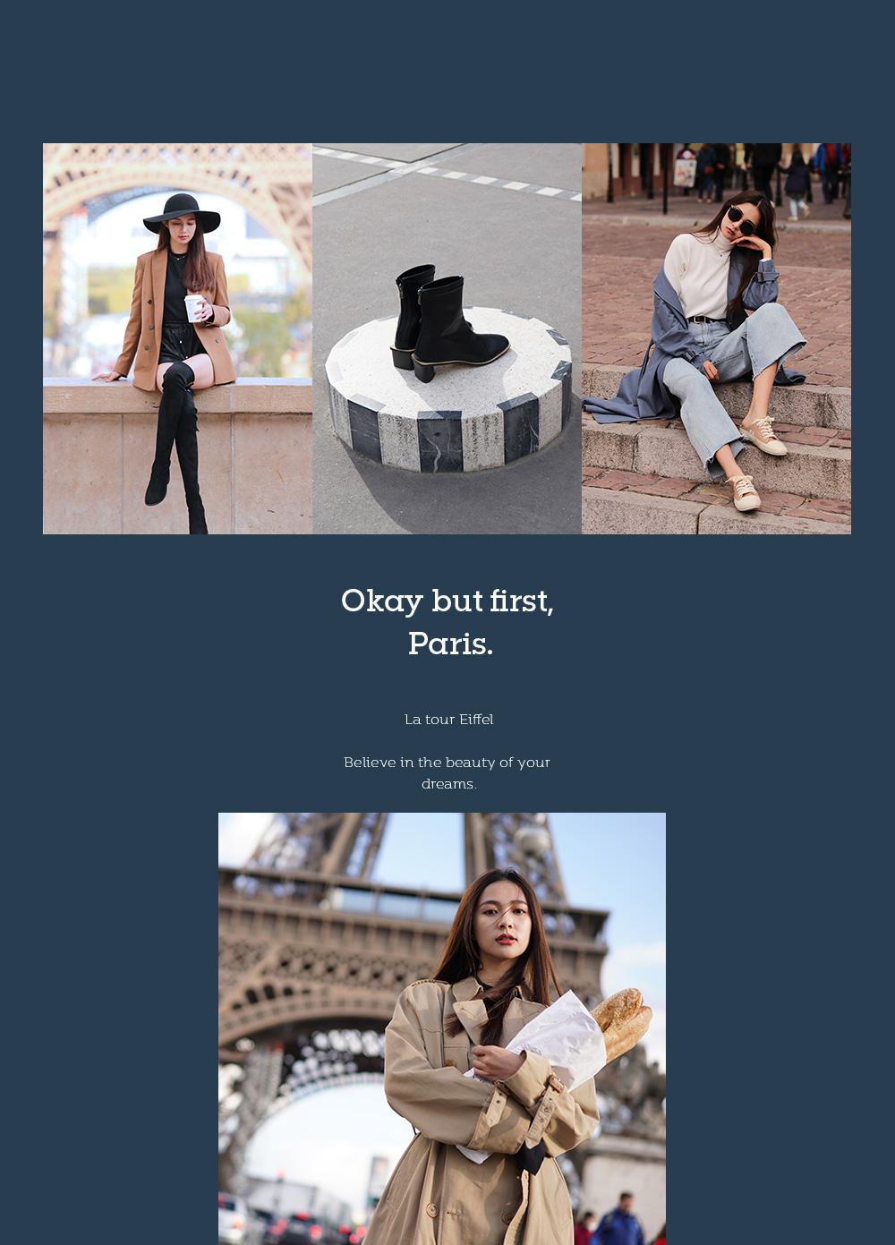 D+AF法國拍攝企劃 2019 女鞋 靴子新品