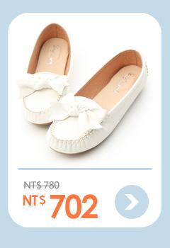 可愛印象.MIT立體蝴蝶結莫卡辛豆豆鞋