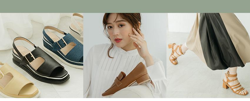 D+AF x 逸歡Clina聯名系列 厚底涼鞋 羅馬涼鞋 樂福鞋 2021流行女鞋 夏