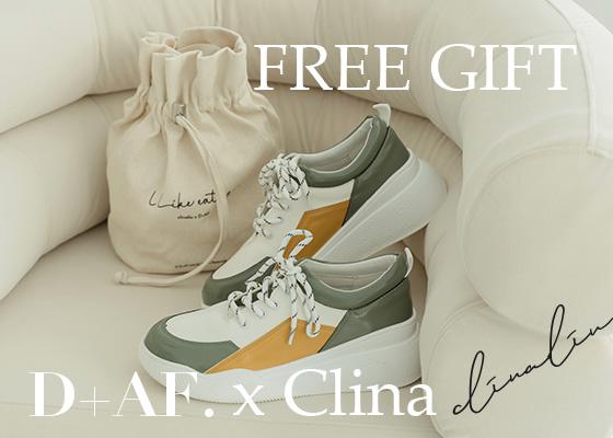 凡購買「逸歡Clina聯名鞋款」單筆訂單滿$2,200贈帆布袋限量贈品