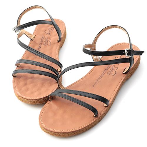 仲夏日常.斜帶設計超軟底涼鞋