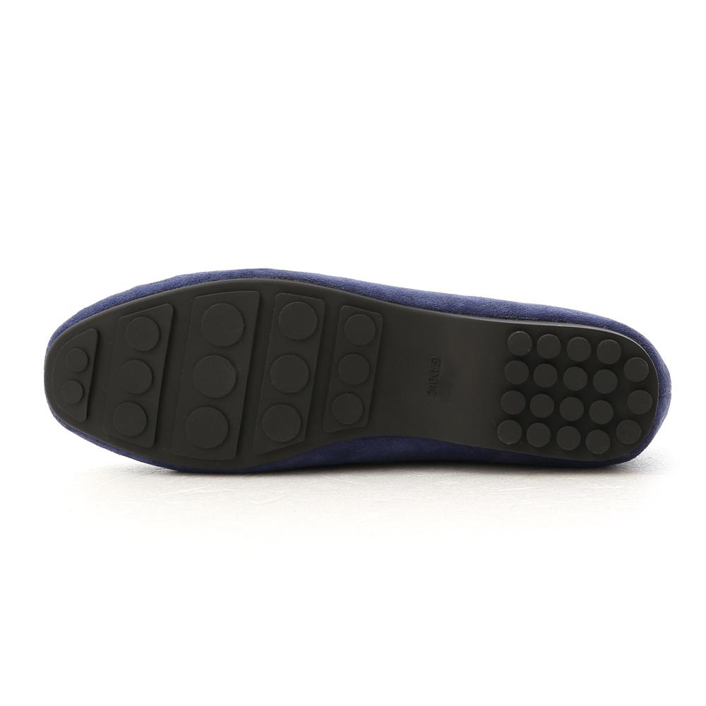 歡樂主張.經典款絨料樂福鞋 學院深藍