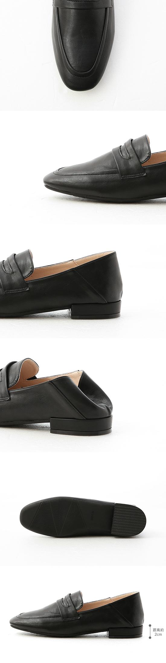 日常印象.經典款可後踩樂福鞋 時尚黑