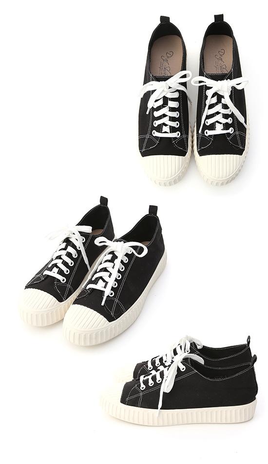 Color Canvas Sneakers Black
