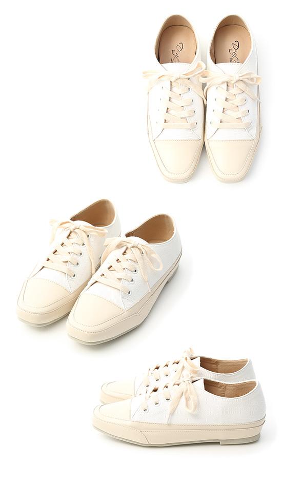 自在首選.小方頭多色帆布休閒鞋 人氣白
