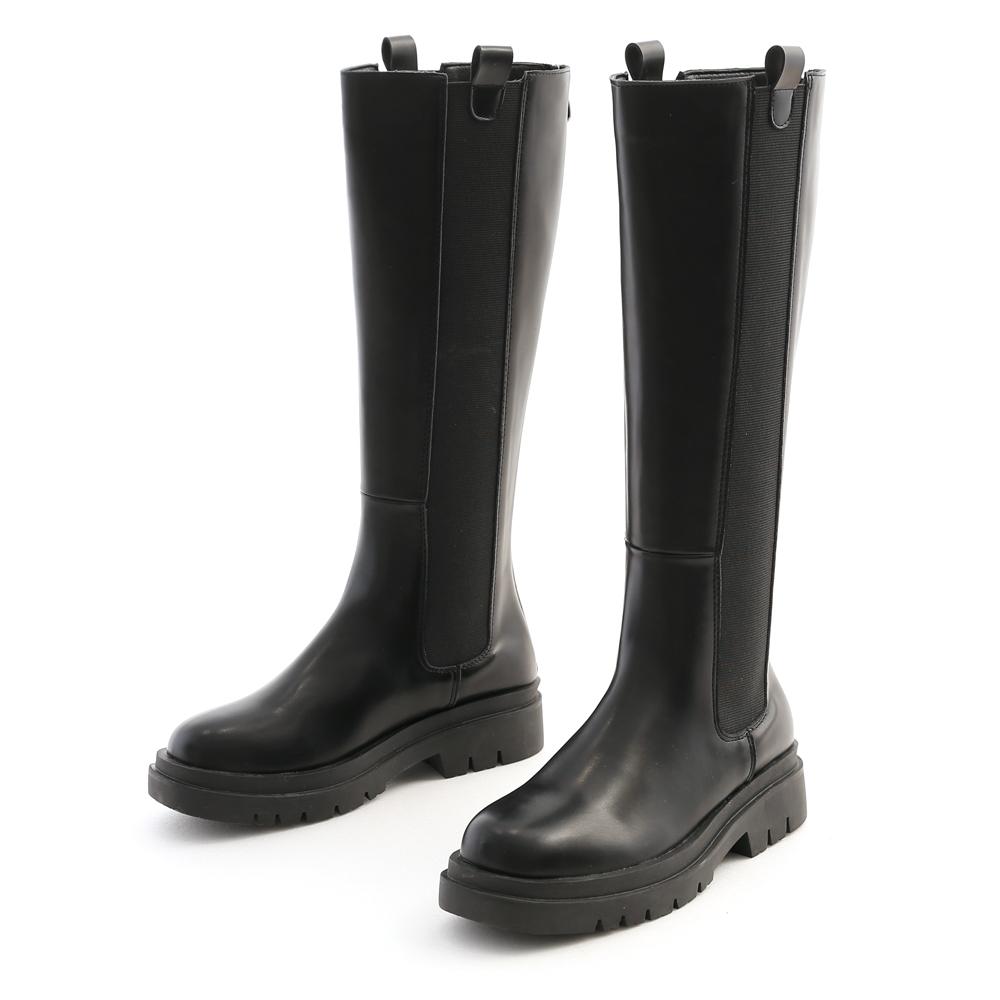 時尚型女.加厚鞋底切爾西長靴 時尚黑