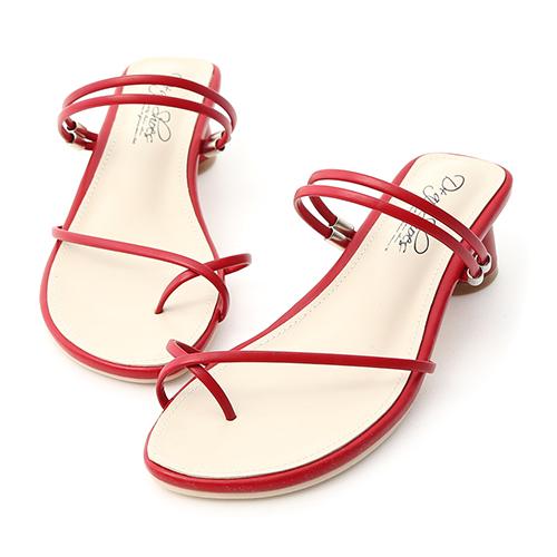 D+AF 清新夏氛.交叉套指2way圓跟涼鞋