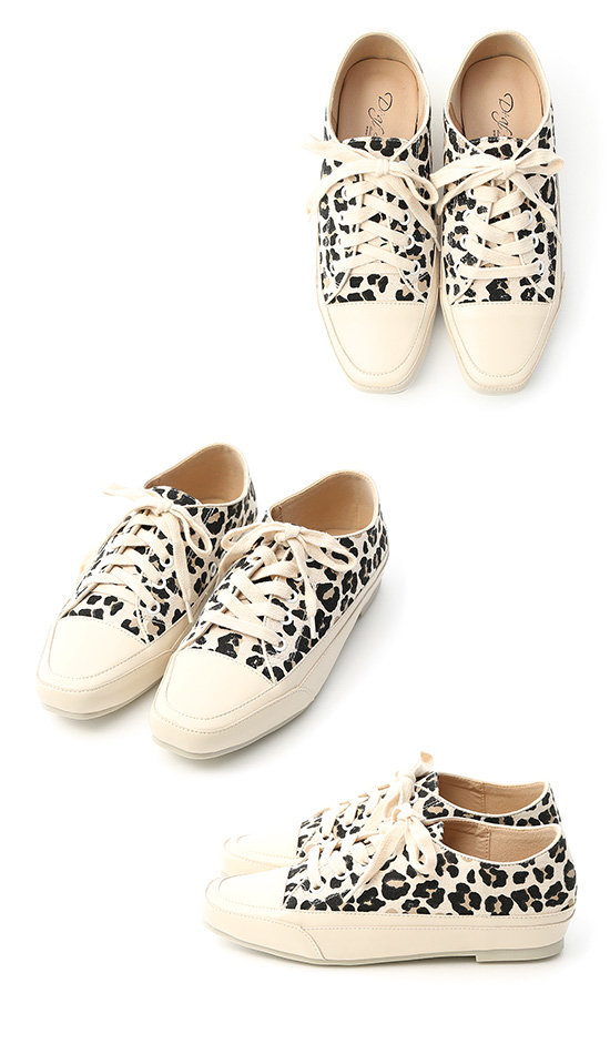 Square Toe Casual Canvas Shoes Leopard print