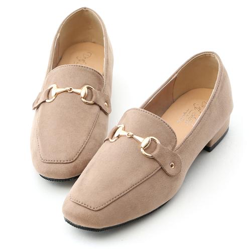 時尚典範.質感馬銜釦絨質樂福鞋