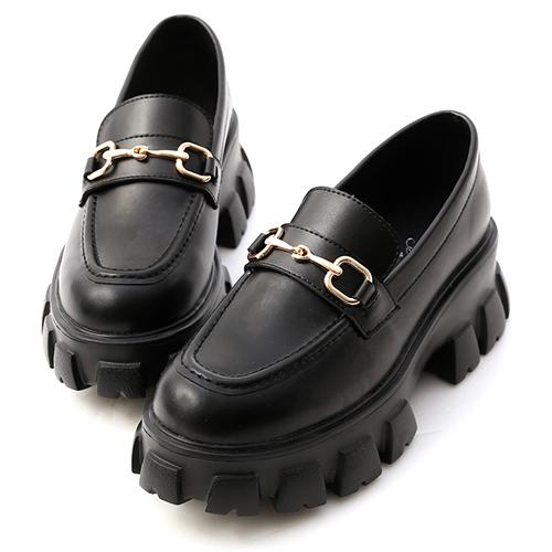 街潮主題.鋸齒底馬銜釦樂福鞋