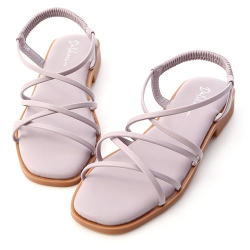活力滿點.棉花糖軟墊細帶涼鞋