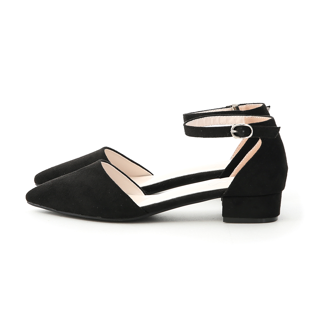 Pointed Toe Mary Jane Shoes Black