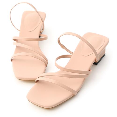 夏氛時光.多層次細帶低跟涼鞋