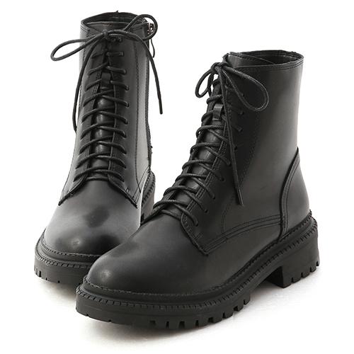 型人風格.厚底綁帶馬汀短靴