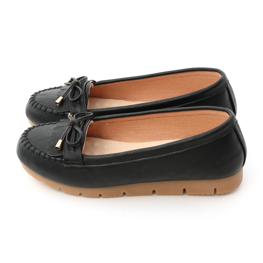 自在漫步.MIT流蘇造型樂福健走鞋 時尚黑