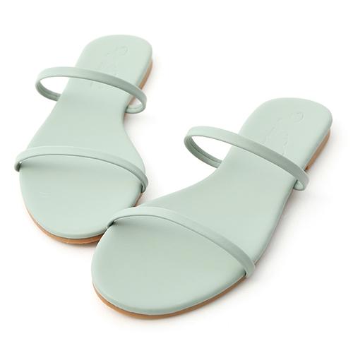 D+AF 清涼夏日.二條細帶平底涼拖鞋