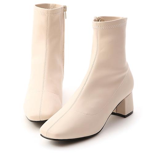 D+AF 人氣百搭.素面顯瘦感合腿長靴(皮)