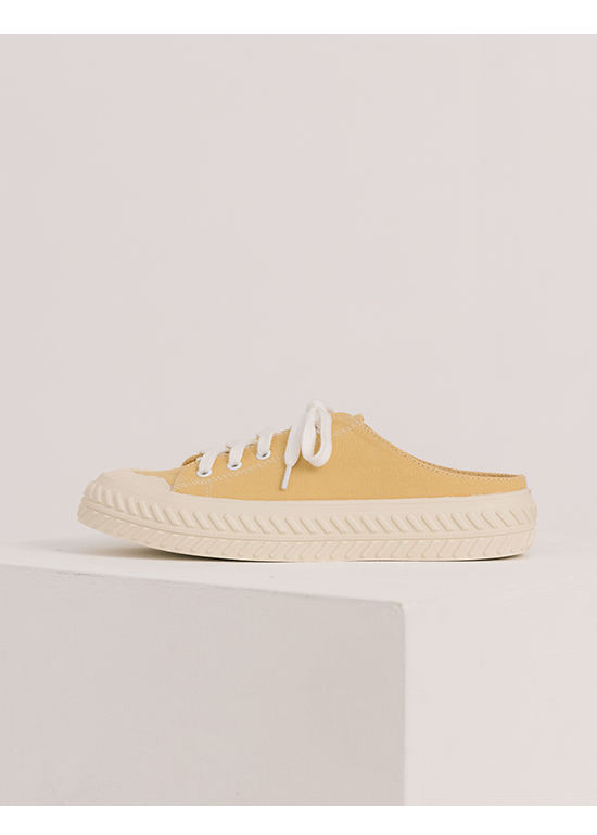 Canvas Mules Sneakers Yellow