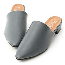 D+AF 極簡格調.素面尖頭低跟穆勒鞋