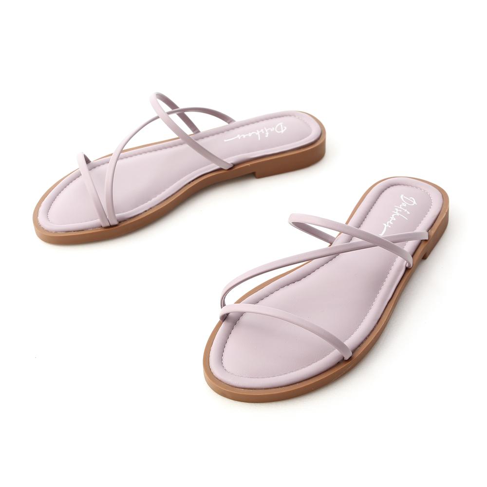 Z Strap Cushioned Sandals Lavender