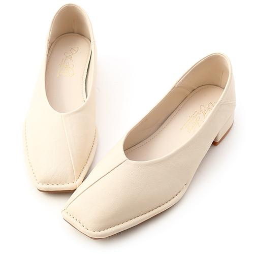 甜甜淡淡.超軟V口素面包鞋