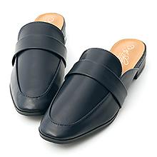 D+AF 質感生活.簡約設計方頭穆勒鞋