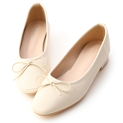 春日漫步.小蝴蝶低跟芭蕾娃娃鞋