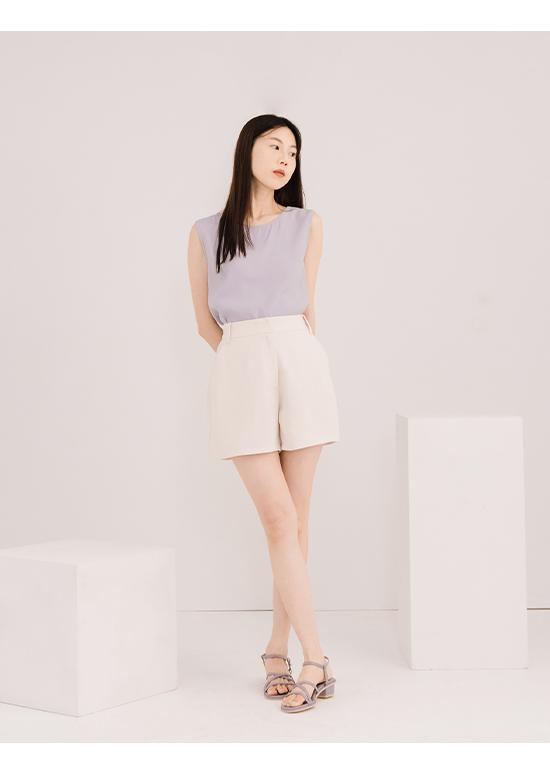夏日甜心.交叉細帶低跟涼鞋 薰衣紫