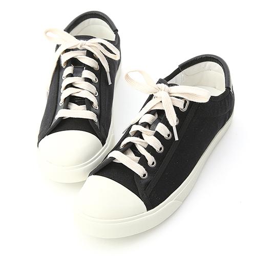 D+AF 青春年代.異材質拼接帆布休閒鞋