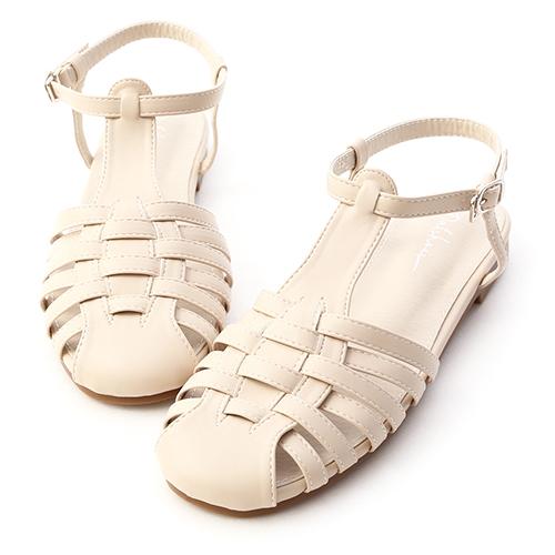 復古隨性.層次感編織平底涼鞋