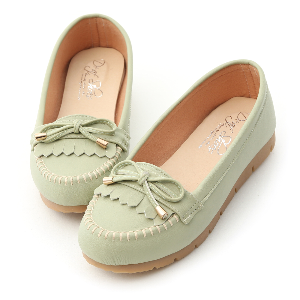 自在漫步.MIT流蘇造型樂福健走鞋 清新綠