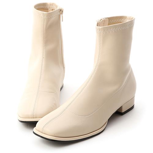 時尚主義.中車線方頭低跟短靴