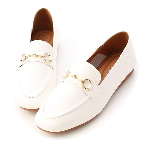 學院風範.超軟Q馬銜釦樂福鞋