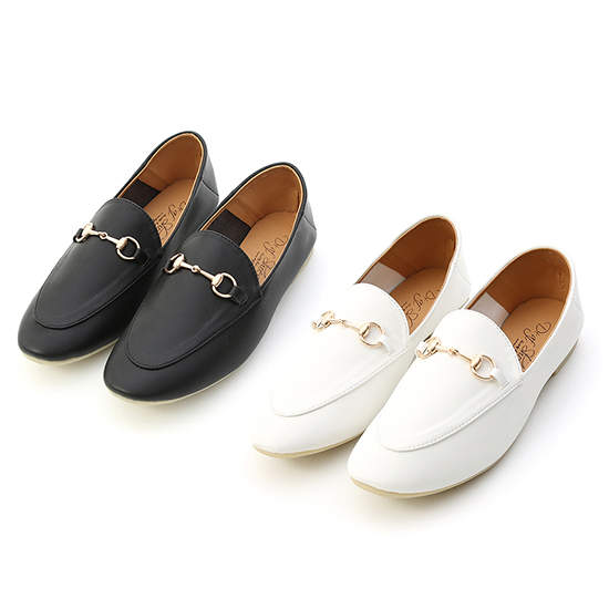 品味典藏.超軟底馬銜釦樂福鞋 時尚黑