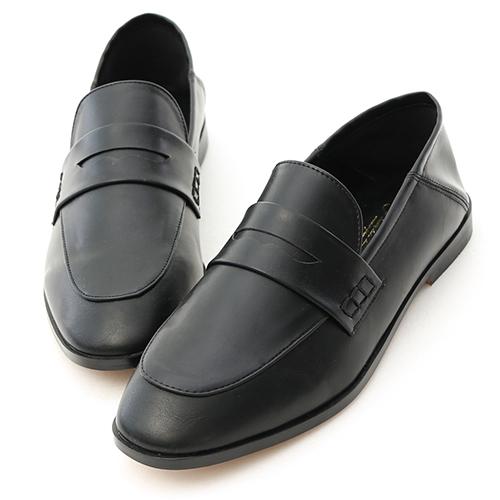 百搭主角.經典款後踩式二穿樂福鞋