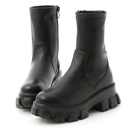 暗黑風潮.超輕量素面鋸齒靴