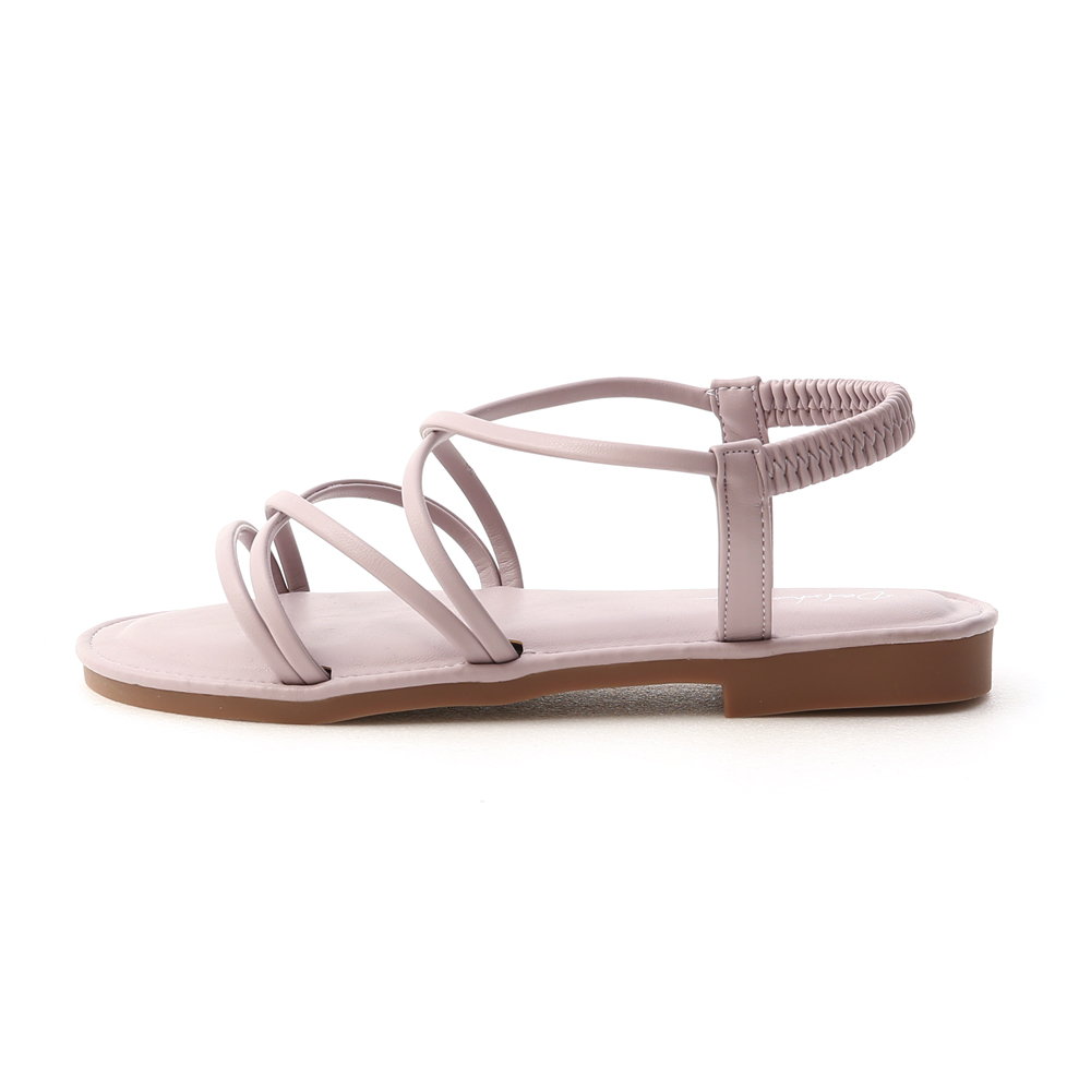 Cross Strap Sandals Lavender